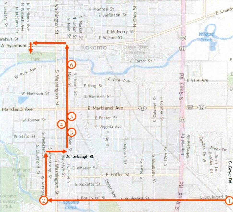 Commemorative Run Map
